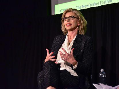 La actriz Christine Baranski, en una charla en Nueva York en octubre de 2018.