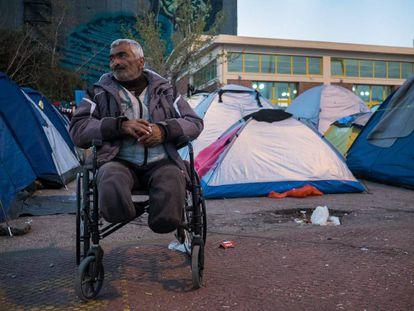 Puerto del Pireo, donde viven 5.000 personas refugiadas.