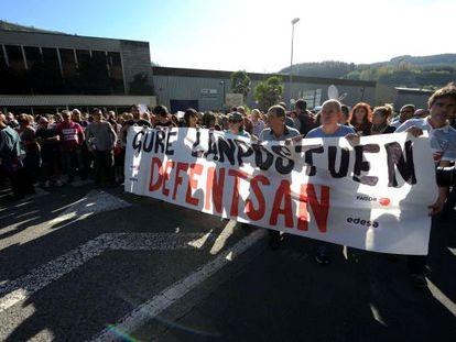 Manifestación de trabajadores de Fagor en Mondragón el pasado día 18.