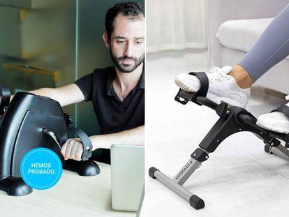Además de las piernas, con estos pedales estáticos también se pueden ejercitar los brazos.