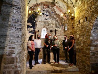Una delegación de ERC presenta en Sant Vicenç de Castellet el listado de inmatriculaciones de la Iglesia