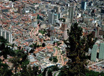 Vista aérea de Bogotá.