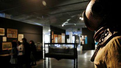 Una de las piezas de la exposición es la escafandra que el capitán del Nautilus utiliza para salir del submarino.