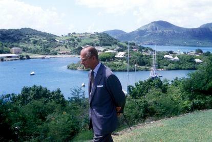El duque de Edimburgo, en Bahamas en 1985.