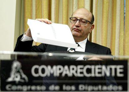 Álvarez de Miranda, durante su comparecencia.