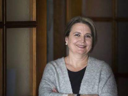 María Elvira Roca Barea, en su casa de Málaga, en febrero de 2017.