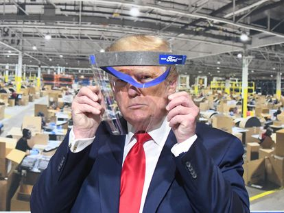 El presidente de Estados Unidos, Donald Trump, el pasado mayo en Ypsilanti (Michigan).