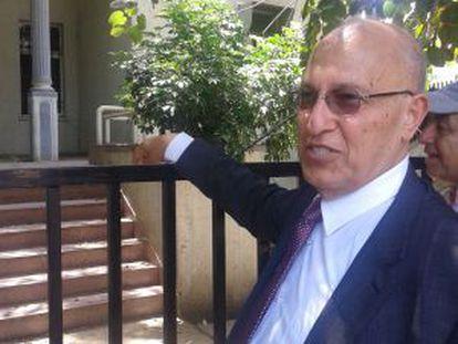 Nabil Shaath, ante su antigua casa en Jaffa.