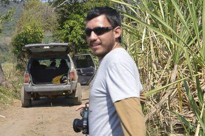 Rubén Espinosa, en Jalapa en enero de 2014