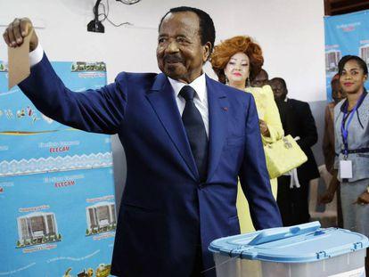 Paul Biya vota este domingo en Yaundé.