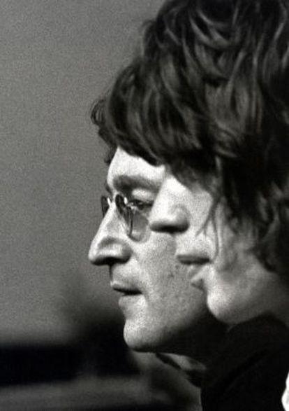 John Lennon y Mick Jagger.
