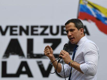 El líder opositor Juan Guaidó, durante un mitin en octubre del año pasado.