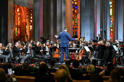 Concierto de la Filarmónica de Viena, el sábado, en la Sagrada Familia de Barcelona.