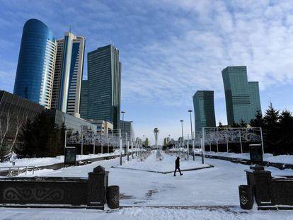 Astaná, capital de Kazajistán, renombrada ahora Nursultán.
