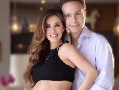 Anahí y Manuel Velasco durante el embarazo.