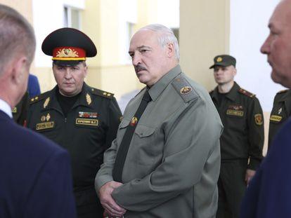 Lukashenko, presidente bielorruso, en la localidad de Shklov, el pasado 16 de junio.