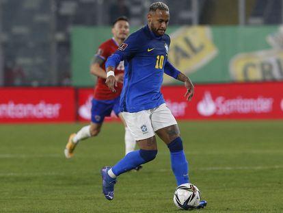 Neymar, en el partido de Brasil ante Chile.