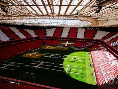 Vista general de San Mamés, una de las sedes de la Eurocopa 2020.