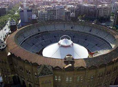 Una vista de la plaza de toros Monumental de Barcelona.