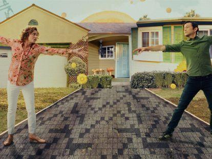 Debra Winger y Joseph Gordon-Levitt, en uno de los momentos de surrealismo visual de la muy realista 'Mr. Corman'.