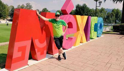 El 'coach' en el predio de la selección de México.
