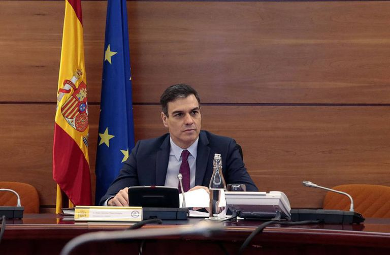 Pedro Sánchez, durante una reunión en La Moncloa, la pasada semana.