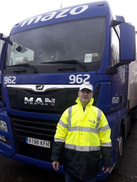 El camionero Javier Ferrando, atrapado en el Reino Unido por el cierre de fronteras a causa de la nueva cepa de coronavirus.