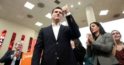 Albert Rivera, este lunes, tras anunciar que deja la vida política.
