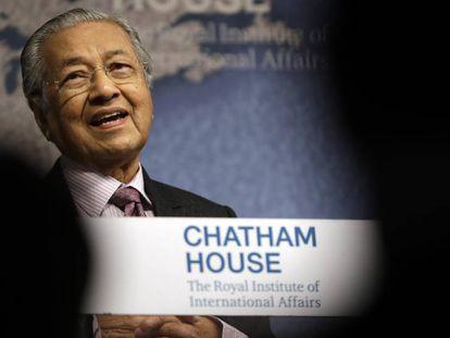 El primer ministro Malasio, Mahathir Mohamad.