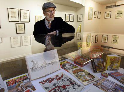 El dibujante Robert Crumb, en una exposición en Nueva York en 2011.
