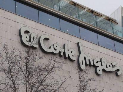 Fachada de El Corte Inglés de calle Serrano, en Madrid.