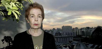 Hebe Uhart, en 2010 en Buenos Aires.