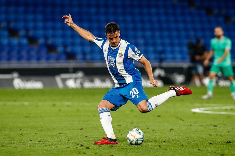 Bernardo, en el último partido del Espanyol ante el Real Madrid.