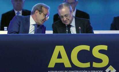 Marcelino Fernández Verdes (izquierda), junto a Florentino Pérez.