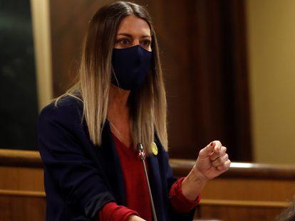 La diputada Míriam Nogueras durante una sesión de control en el Congreso.