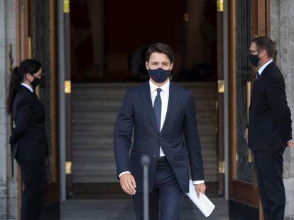 El primer ministro de Canadá, Justin Trudeau, en Ottawa este domingo.