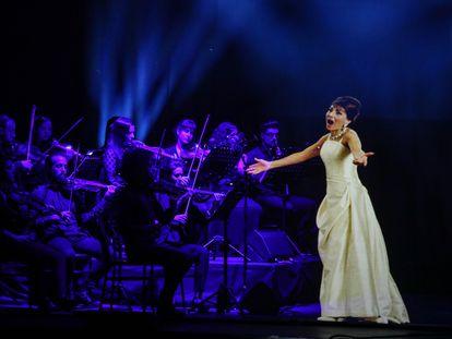 Imagen del espectáculo 'Callas en concierto en holograma', en el Gran Teatro Bankia Príncipe Pío.