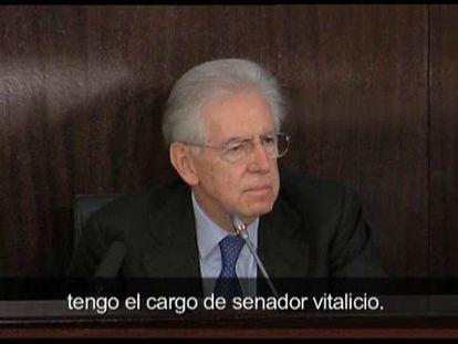 Monti se ofrece a gobernar Italia si se adopta su agenda de reformas