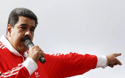 Maduro durante un mitin el pasado 15 de diciembre en Caracas.