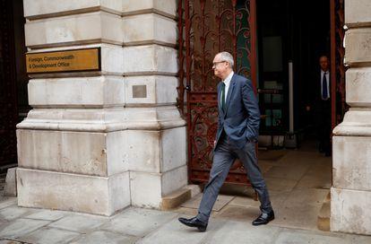 El asesor científico jefe del Gobierno del Reino Unido, Patrick Vallance, el pasado 10 de noviembre en Londres