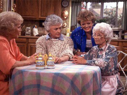 Las cuatro protagonistas de 'Las chicas de oro' en 198. De izquierda a derecha, Betty White, Bea Arthur, Rue McClanahan y Estelle Getty.