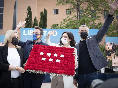Toni Cantó con la presidencia de la Comunidad de Madrid, Isabel Diaz Ayuso.