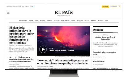 Con el rediseño, EL PAÍS elige una portada más corta, enfatizando los temas propios y limitando su extensión, que pasa de 25 rollos a 15.