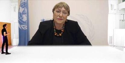 Michelle Bachelet, alta comisionada de las Naciones Unidas para los Derechos Humanos y expresidenta de Chile.