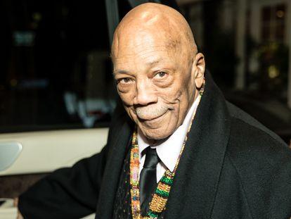 El productor Quincy Jones, en una gala celebrada en el hotel Four Seasons de Los Ángeles en febrero de 2020.