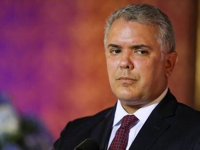 El presidente de Colombia, Iván Duque, en febrero pasado.