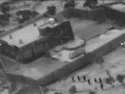 Captura de vídeo que muestra el asalto de fuerzas especiales de EEUU a la casa de Al Bagdadi, el 26 de octubre. En vídeo, los vídeos del ataque a Al Bagdadi difundidos por el Pentágono.