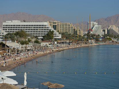 Vista de Eilat, en Israel, donde se ha producido la violación grupal.