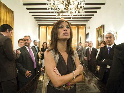 Mónica Lorente, exalcaldesa de Orihuela en un acto municipal.