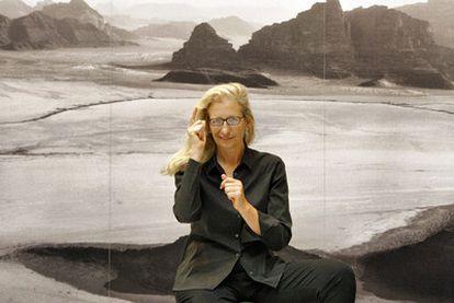 La fotógrafa estadounidense Annie Leibovitz en la presentación de una exposición sobre su obra, el año pasado en Madrid.